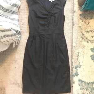 Classiques Enrier Grey with Navy pin stripe Dress